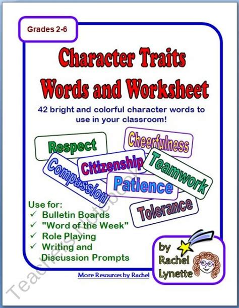 character education themes elementary character words coping skills pinterest