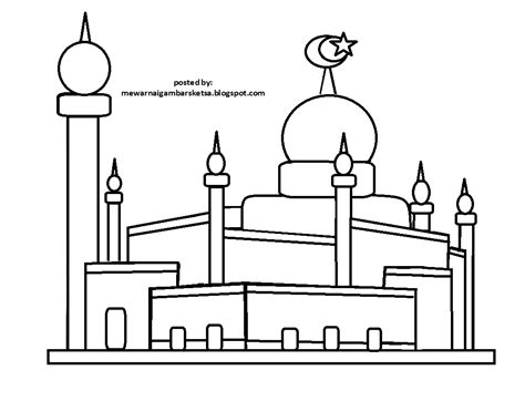 masjid of coloring coloring pages
