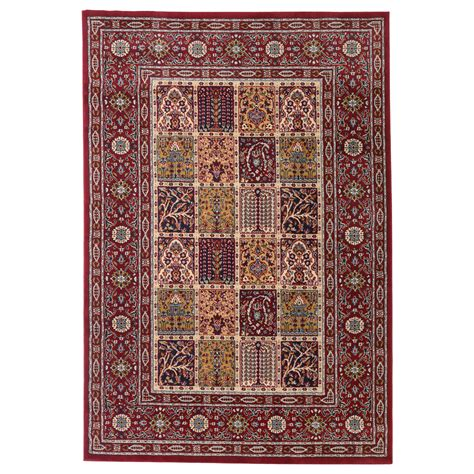 picture of a rug valby ruta rug low pile multicolour 133x195 cm ikea