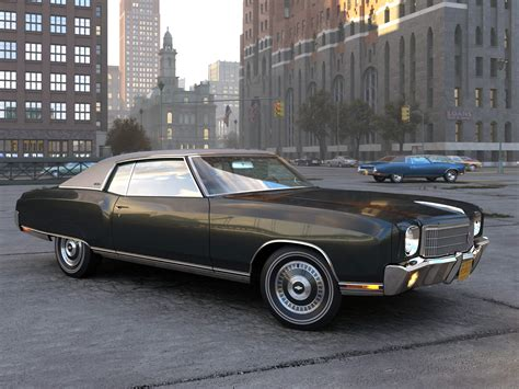 1970 chevrolet monte carlo chevrolet monte carlo 1970 3d model animated rigged max