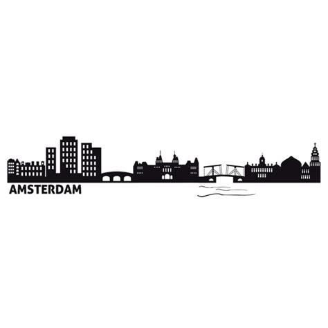 skyline wall sticker wall stickers skyline amsterdam