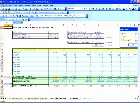 10 Npv Irr Excel Template Exceltemplates Exceltemplates Npv Irr Excel Template