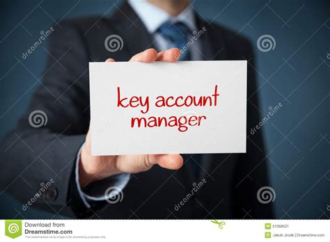 key account manager stock image image of network 51068521