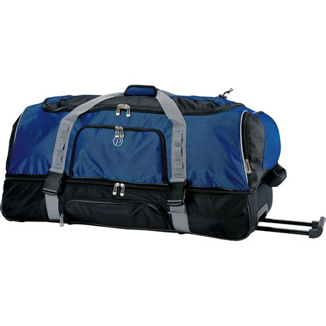 Duffle Atom Navy Waterproof Travel Bag Tas Original Murah mens canvas large rolling duffel bag travel with wheels 36 quot ebay