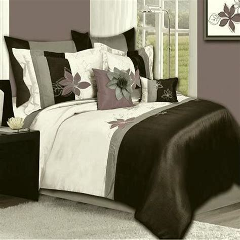 mauve comforter emma gray mauve charcoal 8 piece comforter bed in a bag