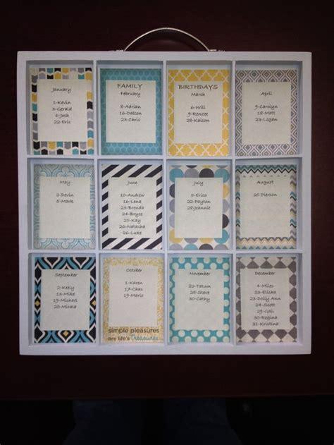 Family Calendar Ideas 1000 ideas about birthday calendar craft on