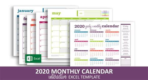 deluxe event calendar  excel template printable etsy