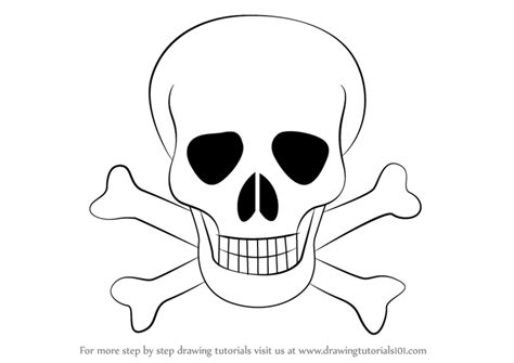 easy step by step how to draw skull and snake pics learn how to draw skull with crossbones skulls step by