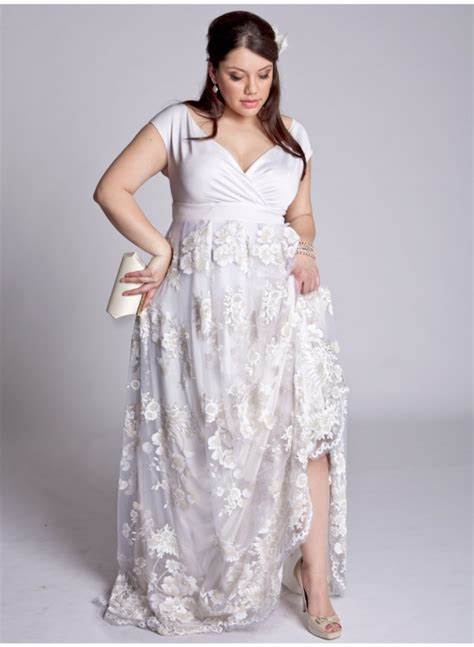 hippie designer vintage wedding dresses for plus size brides