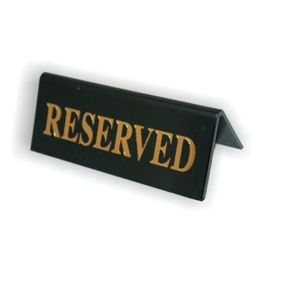 Table Signs by Black Reserved Table Signs Acrylic Set Of 5 Reserved Table Signs