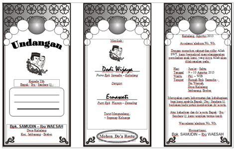 template undangan pernikahan sederhana contoh surat undangan kematian katolik contoh surat