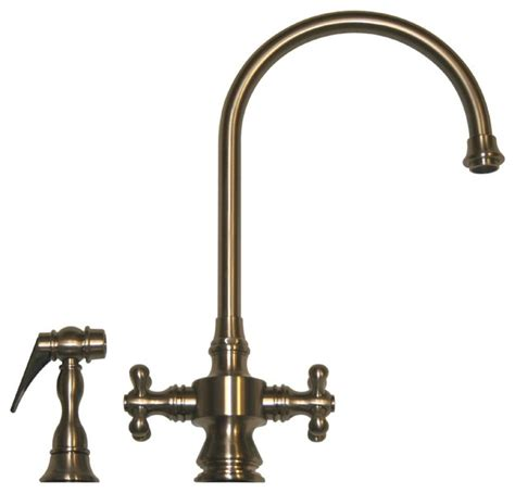 vintage kitchen faucet vintage iii dual handle faucet gooseneck swivel spout