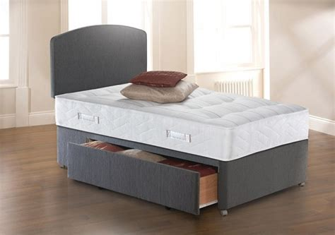 how big is a single bed sealy solo ultra tufted 3ft6 large single divan bed by sealy