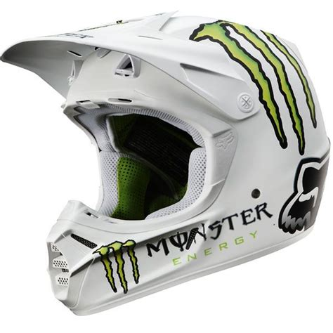 monster helmet motocross fox racing v3 rc monster pro helmet helmet pinterest
