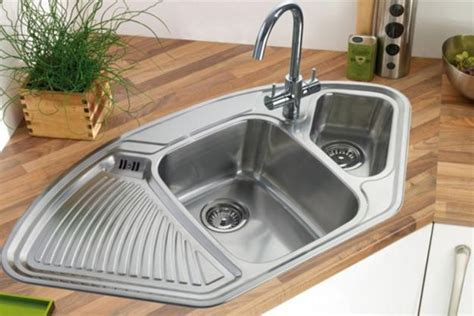 kitchen corner sinks modern kitchens with space saving and ergonomic corner sinks