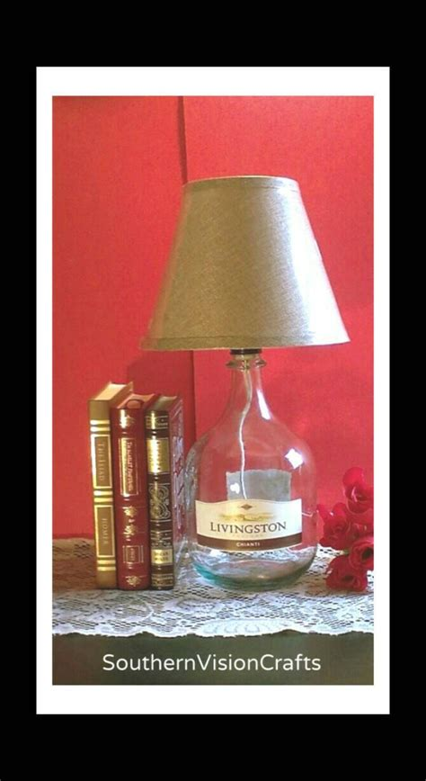 Wine Bottle L Shades by Wine Bottle L With Shade Large Glass Jug Handmade