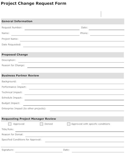 Project Form Template