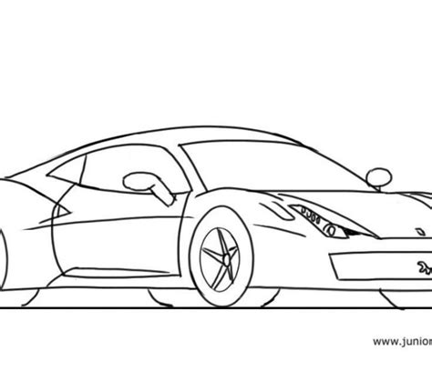 how to draw a 458 junior car designer cool pictures for to draw coloring page ideas