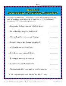 subordinating or coordinating conjunctions 5th grade