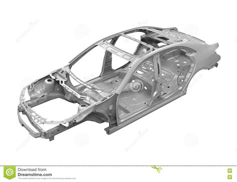 design of vehicle frame unibody car chassis stock image image of automotive
