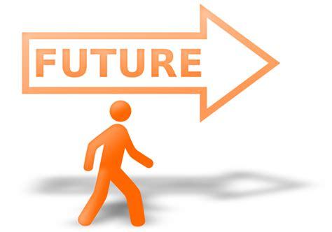 Future Clipart clipart walking to the bright orange future