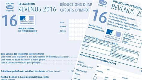 Formulaire Credit Impot Changements Imp 244 Ts 2017 Nouveaut 233 S D 233 Claration Revenus 2016