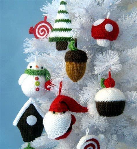 christmas decor knit christmas tree ornament craft ideas