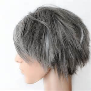 human hair in salt and pepper salt n pepper wig men guy emo gray grey by missvioletlace