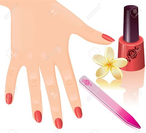 pedicure nail nails clipart manicure pencil and in color nails clipart