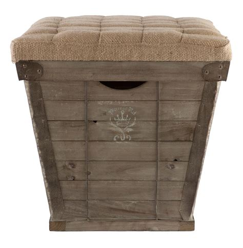 french country ottoman french country white lettering long storage crate burlap