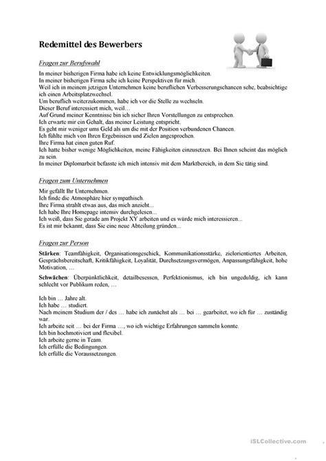 beschwerdebrief spanisch bewerbungsgespr 228 ch der bewerber arbeitsblatt kostenlose daf arbeitsbl 228 tter