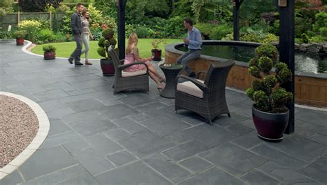 Black And Blue Patio by Fairstone Slate Garden Paving Marshalls Co Uk
