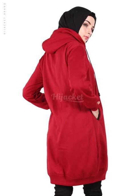 Hijaket Hijabers Premium Material 10 hijacket basic maroon black jb id