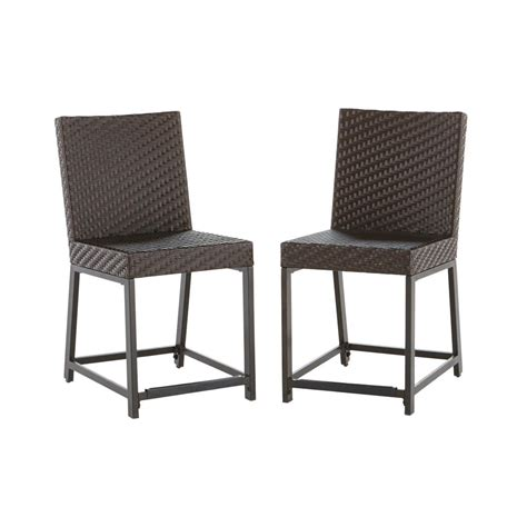 hton bay outdoor bar stools rst brands woven wicker patio bar stool 2 pack ip