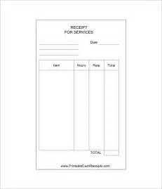 Template Receipt For Services by Receipt Template Doc For Word Documents In Different Types