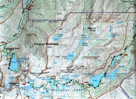 enchantments trail map green trails maps