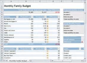 Family Monthly Budget Template Monthly Family Budget Template Family Monthly Budget