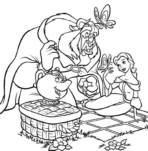 picnic coloring coloring pages