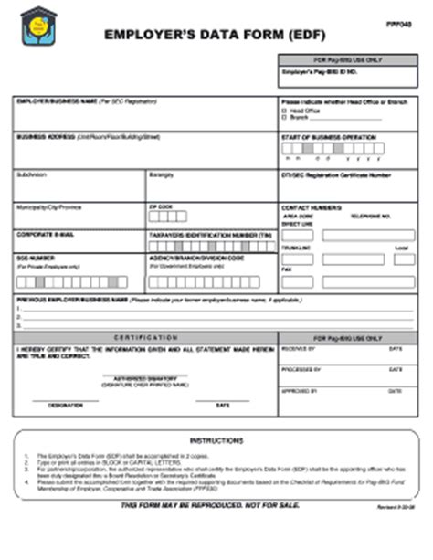 pag ibig fund membership form pag ibig form fill online printable fillable blank