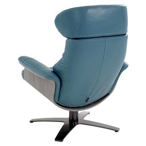 Blue Leather Swivel Chair by Enzo Blue Leather Swivel Chair El Dorado Furniture