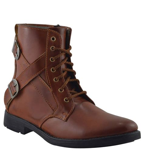 elvace brown suede leather boots price in india buy