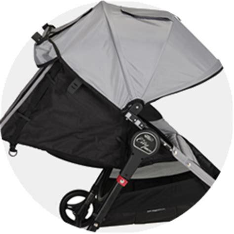 Umbrella Stroller That Reclines Flat by City Micro Baby Jogger Single Black Gray Lightweight