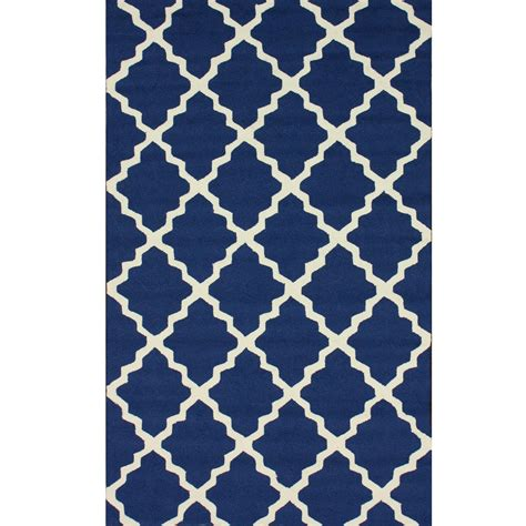 Navy Outdoor Rug Shop Navy Blue Outdoor Trellis Outdoor Rug 4ft X 6ft Nuloom Rugs Outdoors Dfohome