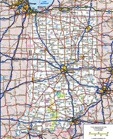 Indiana State Road Map by Indiana Highway
