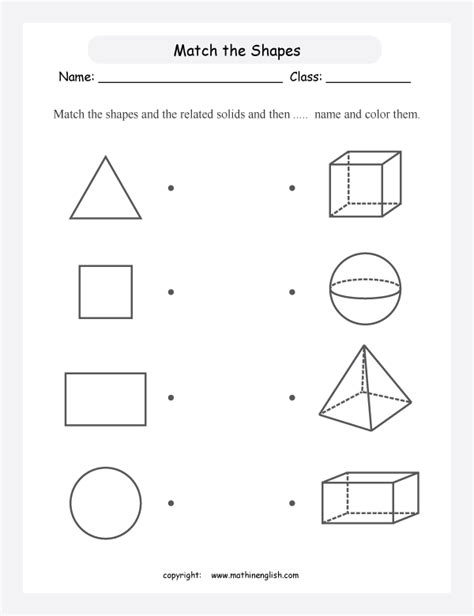 worksheets shapes grade 2 solid figures worksheets free worksheets library