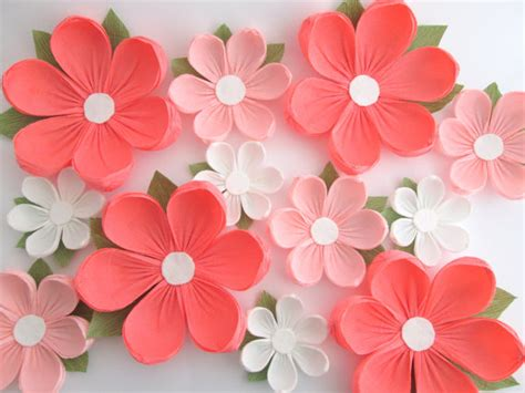 Paper Flower Decoration A2 12 paper flowers wall flowers arch flowers wedding