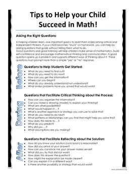 Parent Letter From Math this parent letter gives students families teachers and tutors a reference guide to