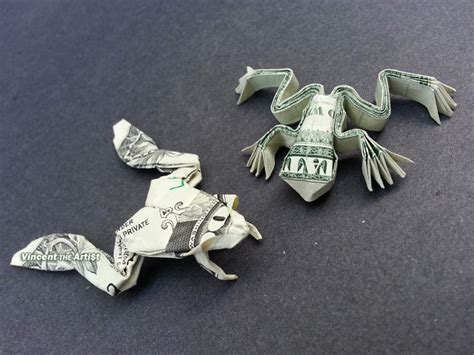 Origami Dollar Bill Frog - 17 best ideas about origami frog on easy