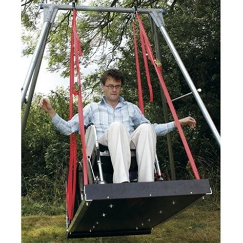 adaptive swings wheelchair platform swing with frame swings especial needs
