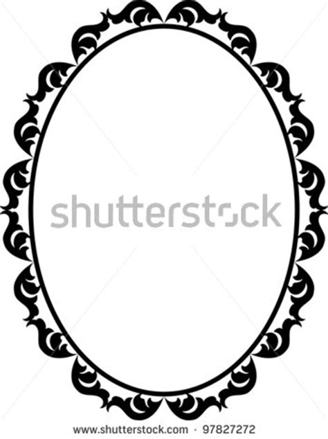 oval template printable vector antique oval frame silhouette clipart panda free